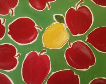 Apples And Lemons by Original Artist Justina Lamptey