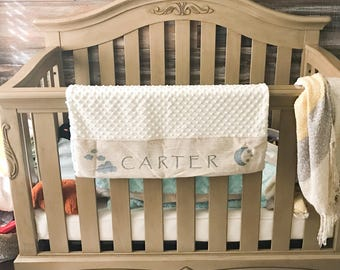 Personalized Baby Blanket // Soft and Handmade Blanket