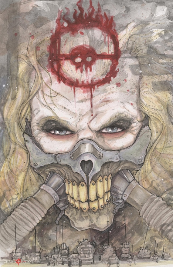 Mad max fury road immortan joe poster print chris oz fulton