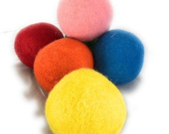 Wool Dryer Balls Colorful 6 Pack XL, 100% Organic New Zealand Wool Eco Friendly