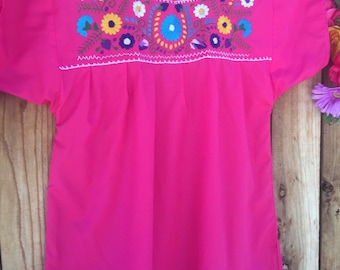 Mexican hand embroidered blouse size EXTRA LARGE