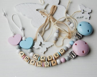 Personalized pacifier clip - Pacifier holder - Baby shower gift - baby gift
