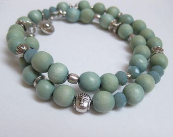 From wood beads, glass beads, metal beads, Buddha beads, gifts for women faceted Bead Bracelet Christmas gift,