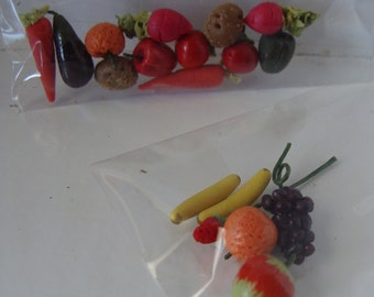 Fruits or Vegetables, Miniatures For Dollhouse Crafting