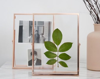 Rose Gold Clear Glass Frame