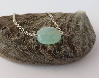 Peruvian Blue Opal Bracelet, Aqua Gemstone, October Birthstone, Minimalist Jewelry, Delicate Holiday Gift for Her, Everyday Jewelry