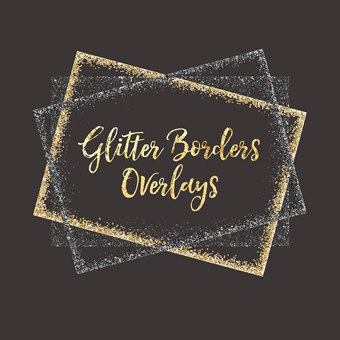 Glitter Borders Clipart Overlay: gold glitter, glitter overlays ...