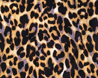 Leopard Print Cotton Sateen - 40 in x 30 in
