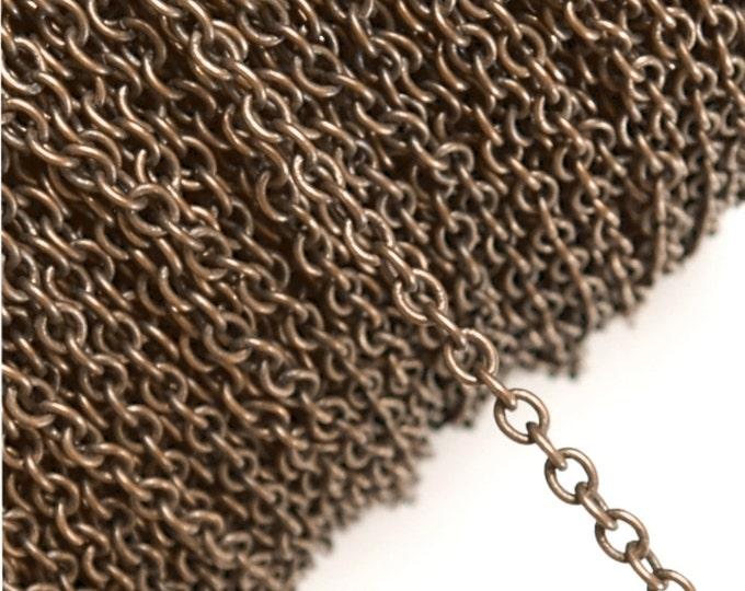 CLOSEOUT - Chain, Cable 4mm, Antique Copper - 25 Meters (CHIAC-CA40)