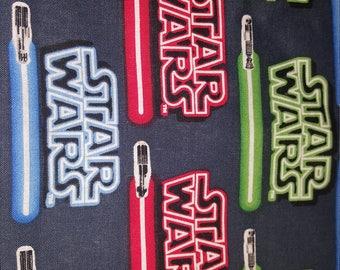 Lightsaber Fleece or Minky Weighted blanket Medium (40x62) Available in Multiple Fabrics