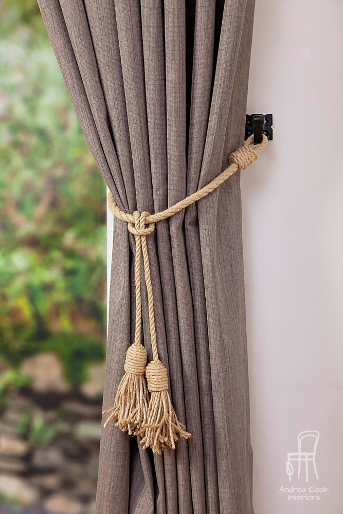 Jute And Hemp Rope Tassel Nautical Curtain Tie Backs