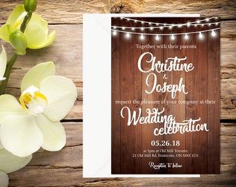 Rustic Wedding Invitation Setup, Rustic Wedding, Country Wedding, Printable Wedding, Invitation template, Wedding invitation, DIY wedding