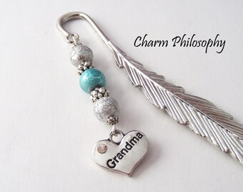 Grandma Bookmark - Tibetan Silver Bookmark - Grandma Gift - Family Gifts