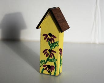 Miniature Purple Coneflower Birdhouse