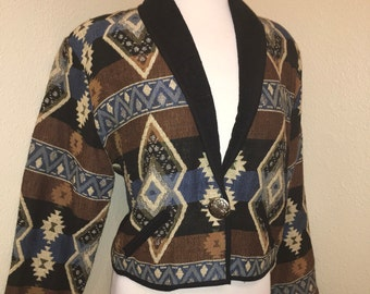 Vintage 1990's Southwestern Dessert Cropped top jacket made buNew Idenity, Medium