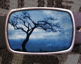 Tree Silhouette Belt Buckle, Nature Buckle 604, Gift for Him, Gift for Her, Husband  Gift, Wife  Gift Groomsmen Wedding