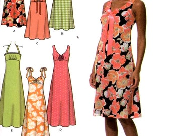 Bridesmaid dress pattern Spring summer dress sewing pattern Simplicity 4630 Bust 36 to 42