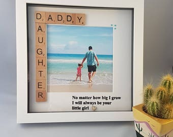 Daddy & Daughter Photo Frame, Dad Photo Frame, Gift for Dad, Christmas Gift, Daddy Christmas Gift, From Daddy's Little Girl, Daddy Frame