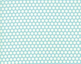 Bonnie and Camille Basics Aqua cotton fabric by Bonnie and Camille for Moda fabric 55023 32