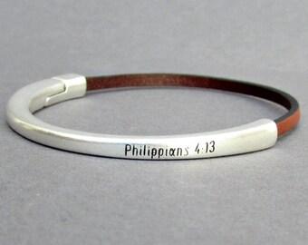 Personalized Mens Leather Bracelet, Dainty Bracelet, Minimalist Bracelet, Boyfriend Gift, Gift For Him, Wide 3 mm Customized On Your Wrist