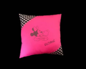 Custom name Minnie Plush Pillow