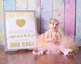 sparkle and shine, Birthday prop, photo prop, Princess sign, chalk board,  Instant Download, sign, first birthday, surprise