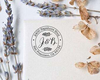 Address Stamp - Round Stamp - Self Inking Address Stamp - Customized Stamp - Return Address Stamp - Wedding Gift - Housewarming Gift