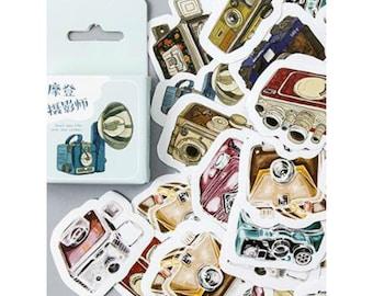 Vintage Cameras Die Cut Stickers Set
