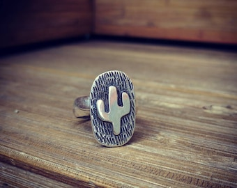 Sterling silver cacti ring made to order