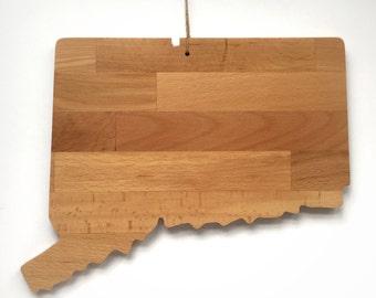 Connecticut Cutting Board, Wood Gift, Serving Board, Wedding Gift, New England Decor, Coastal Living, Home Decor