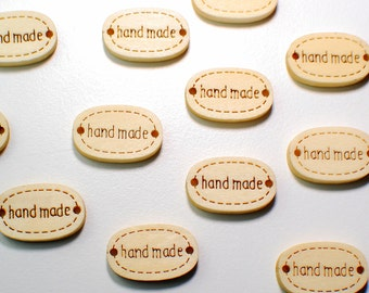 Handmade accessory 10 units of wood, for scrapbooking, decorating crafts, crafts