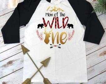 Mama Bear Shirt, Mom of the Wild One, Buffalo Plaid Party, Wild One Birthday, Girl Lumberjack, Buffalo Plaid Mom Shirt,Mommy of the Wild One