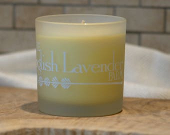 Lavender, Lemongrass & Sweet Orange Essential Oil Soy Wax Candle in Frosted Glass