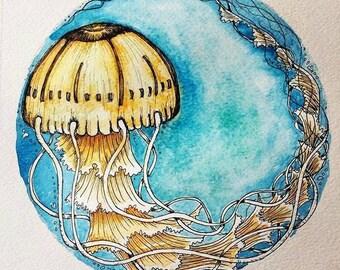 For Laura :Watercolour stargazer lilly on 9x12inch watercolour paper and mini original Magnolia