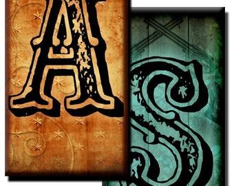 Southwestern Letters - 1 inch x 2 inch - (2) Digital sheets
