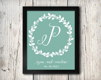 Custom Monogram Design, Printable