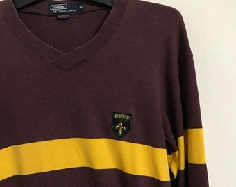 Vintage Polo Ralph Lauren Mercer RL Polo Team Big Pony #3 Collar Shirt Size Small Medium Slim Fit Polo Pwing 92 Small Pony Hip Hop foaWv