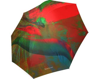 Botanical bird of paradise umbrella