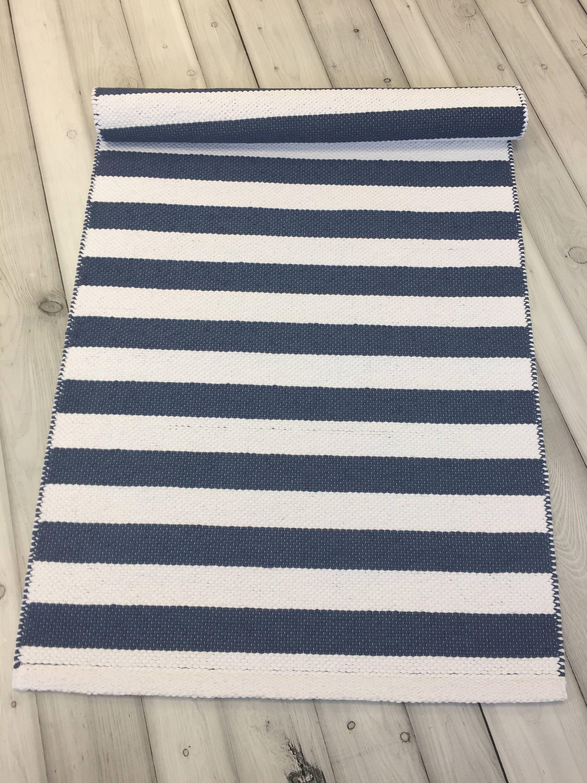 Skandinavische Teppich blau Teppich Läufer gewebten Teppich