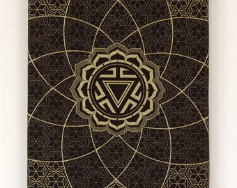 Screen Print Canvas - Manipura Chakra - Sacred Geometry Art Print