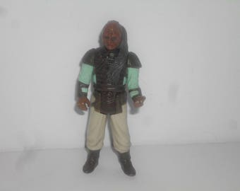 Vintage 1983 Weequay  Star Wars action figure, 1980's toys, Hong Kong, Kenner Toys