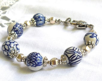 delft blue bracelet delft blue style jewelry Delft blue bracelet blue and white delft bracelet blue and white bracelet