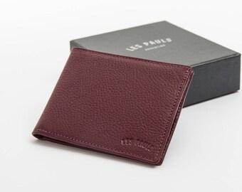 Leather Wallet / Purple & Light Blue