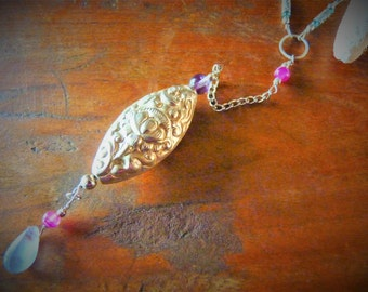 Bohemian  Lotus Bead Necklace