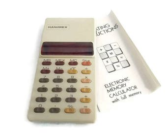 Hanimex Electronic Memorie Calculator Collectors Item Electronic Calculator