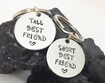 Tall Friend Short Friend, Best Friend Gift, Best Friend Keychains, Tall and Short Friend Gifts, Friend Keychains, Friend Gifts, Best Friends