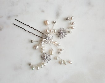 Wedding Hair Pin, Bridal Hair Pin, Freshwater Pearl Wedding Hair Pin