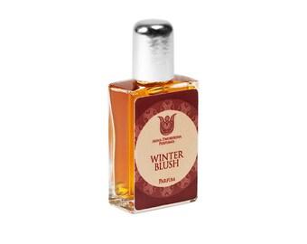 Winter blush - Natural perfume, citrus and floral fragrance with orange, rose, jasmine, cinnamon, vanilla, orris, benzoin, labdanum,Flacon.