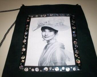 Audrey Hepburn Fabric Tote Purse