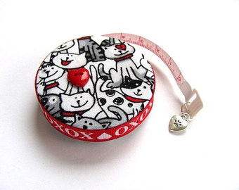 Measuring Tape Black and White Cats Retractable Tape Measure